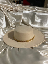Load image into Gallery viewer, Celine Ivory Chain Fedora Hat