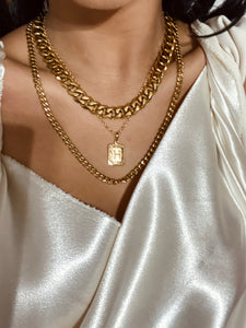 Empire Letter Gold Chain Necklace