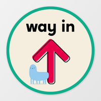 'Way In' circular floor sticker - Monster