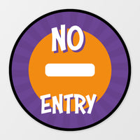 'No Entry' circular floor sticker - Superheroes