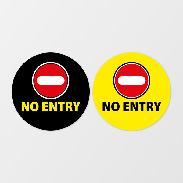 'No entry' circular floor sticker