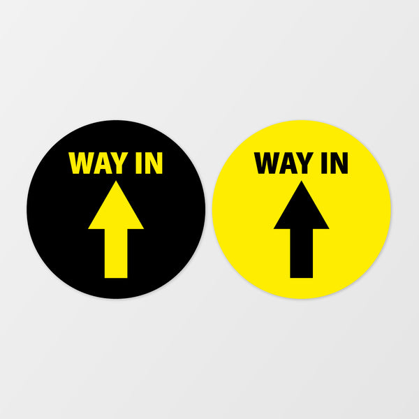 'Way in' circular floor sticker