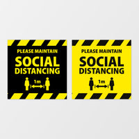 'Social distancing' square floor graphic