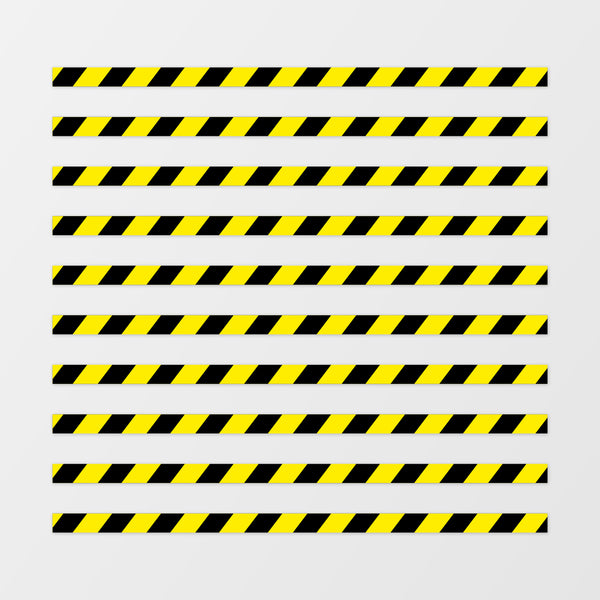 Hazard strip floor sticker - Pack of 10