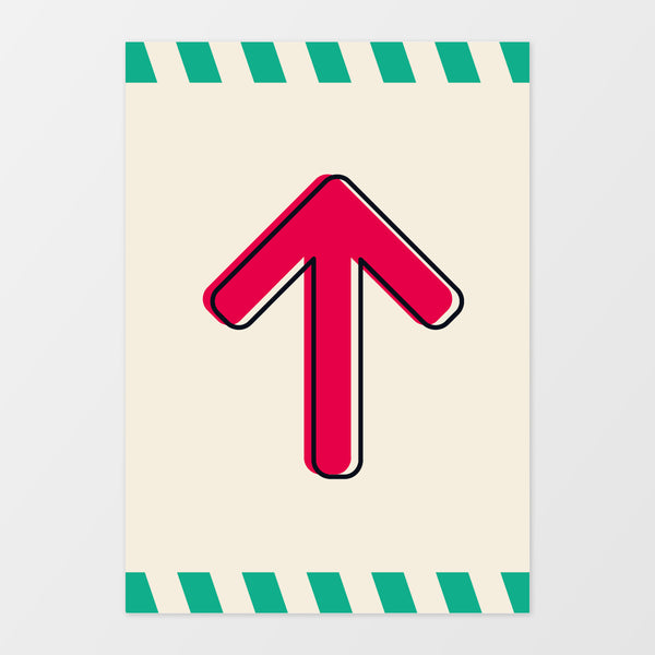 Up/Down arrow wall sign - Monster