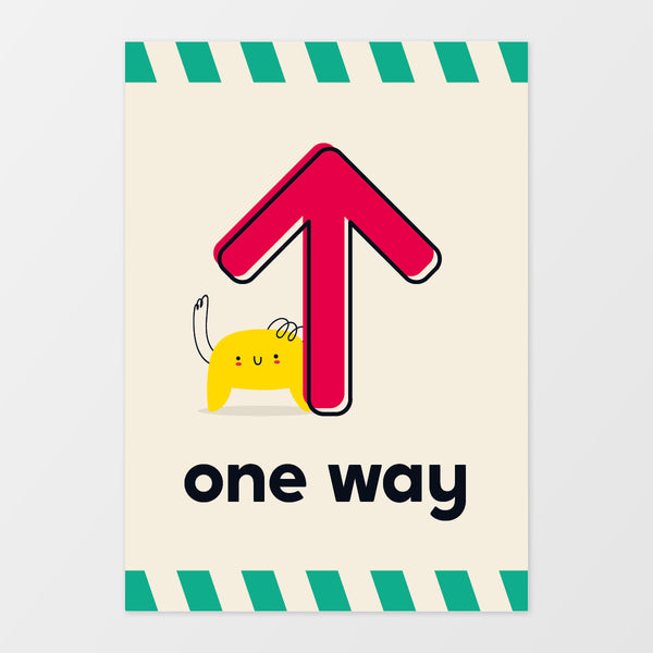 'One way' wall sign - Monster