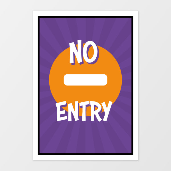 'No entry' wall sign - Superheroes