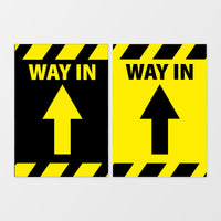 'Way in' wall signage