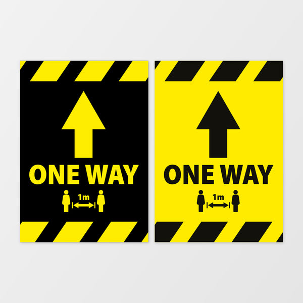 'One way' wall signage