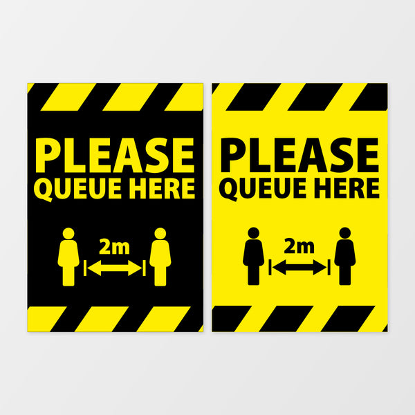 Please Queue Here (Wall Signage)