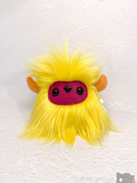 Buffalump Pip - Yellow Pink And Orange Fluffy Plush Monster Plush
