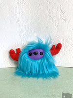 Buffalump Sparky - Blue Purple And Red Fluffy Plush Monster Plush