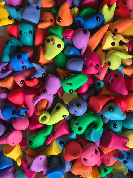 Claybies - Teeny Polymer Clay Slug Creatures Blind Bags