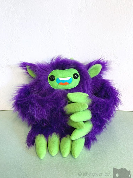 ++Gremlin The Slothling - Purple And Green Plush Sloth Monster Plush