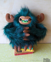 Hooger The Slothling - Large Plush Teal Green And Brown Plush