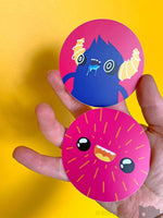 Monster Stickers - Pink And Blue Stickers