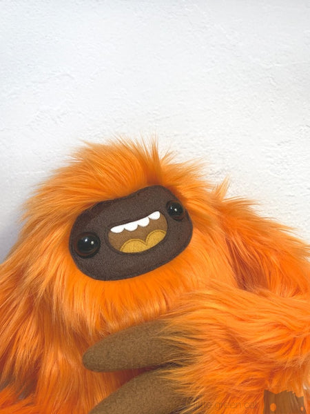 Parker The Slothling - Orange And Brown Plush Sloth Monster Plush