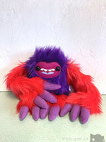 ++Purpleberry The Slothling - Red And Purple Plush Sloth Monster Plush