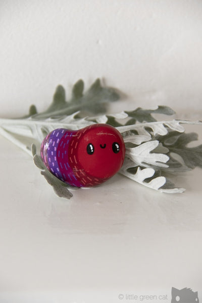 The Ruby Grubbler Handpainted Polymer Clay Pin Accessories