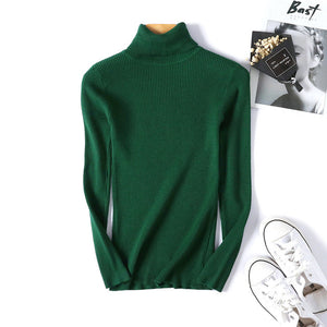 Winter autumn turtleneck Black Sweater Women Skinny Elastic Knitted Soft Pullover Sweater female 2019 korean fashion Pullovers