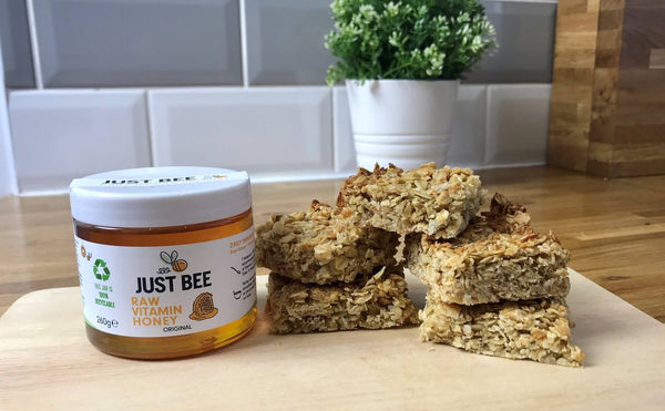 honey flapjacks with Just Bee Honey