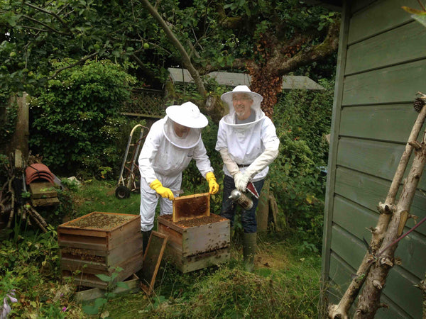 Joe and dad beekeeping