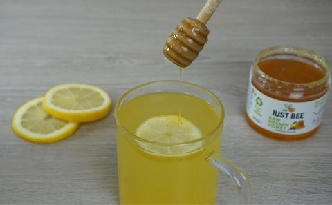 Lemon and ginger honey for cough and sore throat