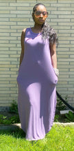 Load image into Gallery viewer, Lilac Maxi Dress With Pockets