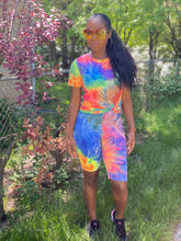 Load image into Gallery viewer, Orange Tie Dye Short Set