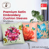 Premium Satin Embroidery Cushion Sleeves