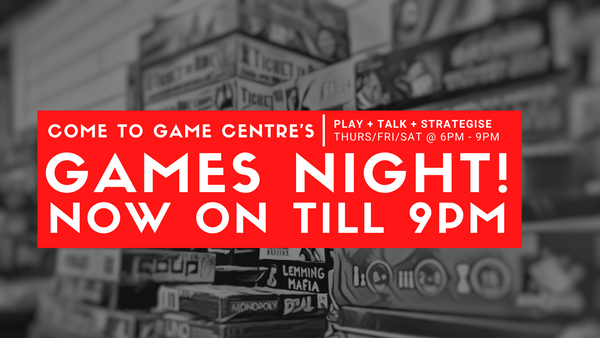 Come to our Games Nights!