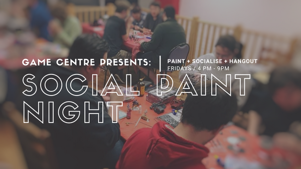 Game Centre's Social Paint Night