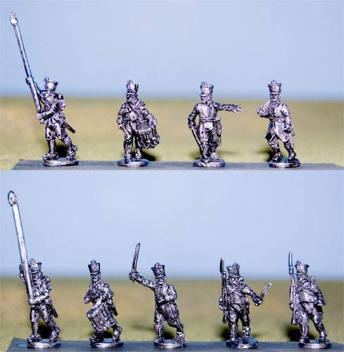 Austrian German Line Infantry Command in Shako