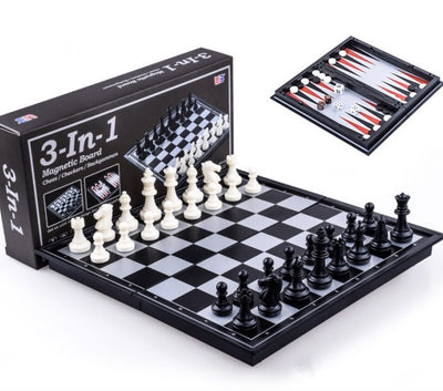 Traditional Games, Magnetic 3-in-1 Game Set - 10 Inch