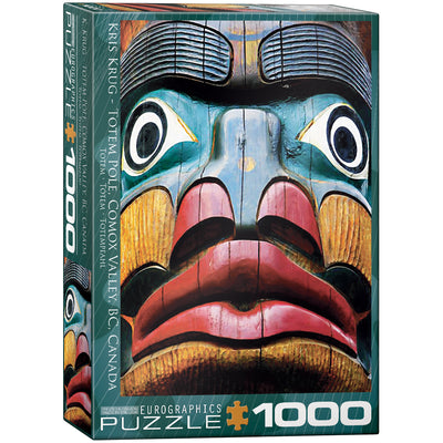 Jigsaw Puzzles, Totem Pole Comox Valley BC - 1000pc