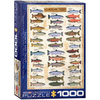 Jigsaw Puzzles, Salmon & Trout - 1000pc