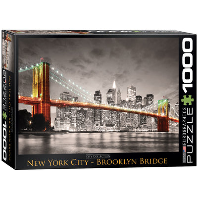 Jigsaw Puzzles, New York City Brooklyn Bridge - 1000pc