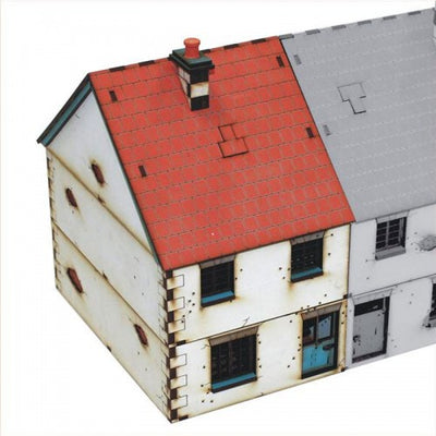 Hobby Supplies, 28mm Terrain: Pre-painted Left Side Semi Detached Type 1