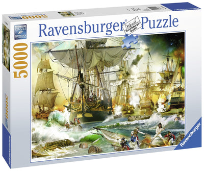 Jigsaw Puzzles, Battle On High Sea Puzzle - 5000pc