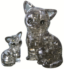 BLACK CAT PAIR CRYSTAL PUZZLE