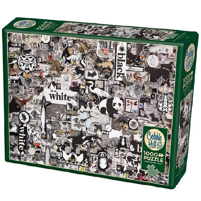 Jigsaw Puzzles, Black & White Animals - 1000pc