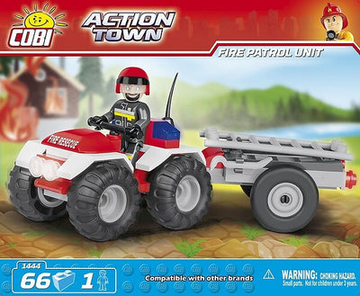 COBI - Construction Blocks, Action Town: Fire Patrol Unit - 65pc