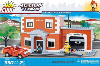 COBI - Construction Blocks, Action Town: Engine 13 Fire Station - 330pc