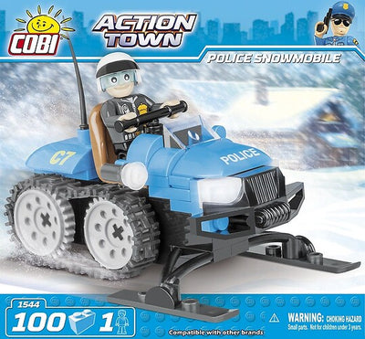 COBI - Construction Blocks, Action Town: Police Snowmobile - 100pc