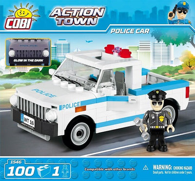 COBI - Construction Blocks, Action Town: Police Car - 100pc