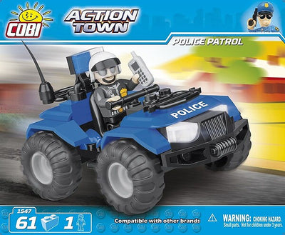 COBI - Construction Blocks, Action Town: Police Patrol Quad Bike - 62pc