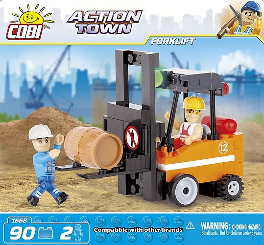 Action Town: Forklift - 90pc
