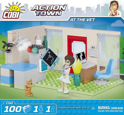 COBI - Construction Blocks, Action Town: At the Vet - 100pc