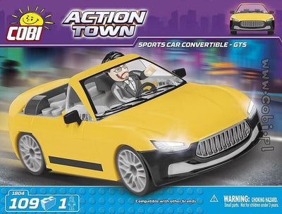 COBI - Construction Blocks, Action Town: Sports Car Convertible Cobra GTS -109pc
