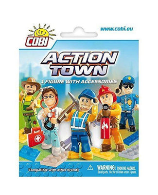COBI - Construction Blocks, Action Town: 1 Figurine with Accessories